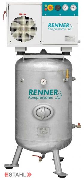 Schraubenkompressor RSD- B 2,2 ST auf verzinktem, stehendem Druckluftbehälter