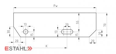 Design Treppenstufen 800x240 mm