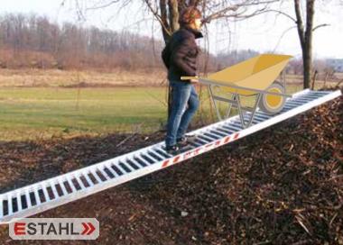 Aluminium Mistrampe für Schubkarren, Länge 4000 mm