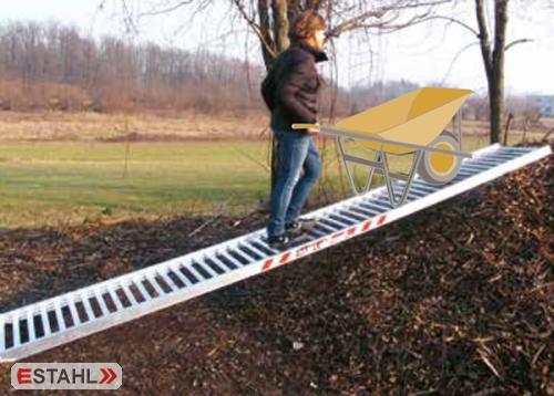 Aluminium Mistrampe für Schubkarren, Länge 5000 mm