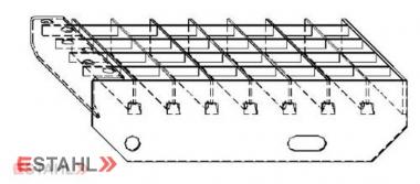 Gitterroststufe 1000 x 270 mm 30/30