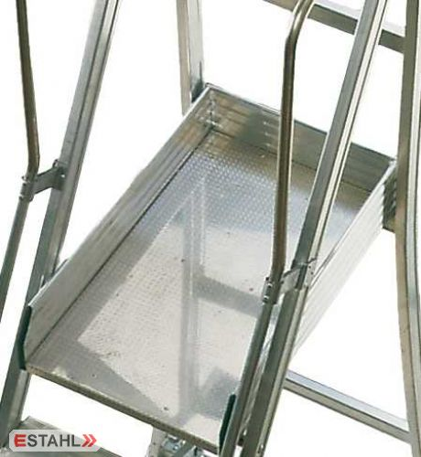 Schiebe - Podesttreppe, 9 Stufen + Plattform