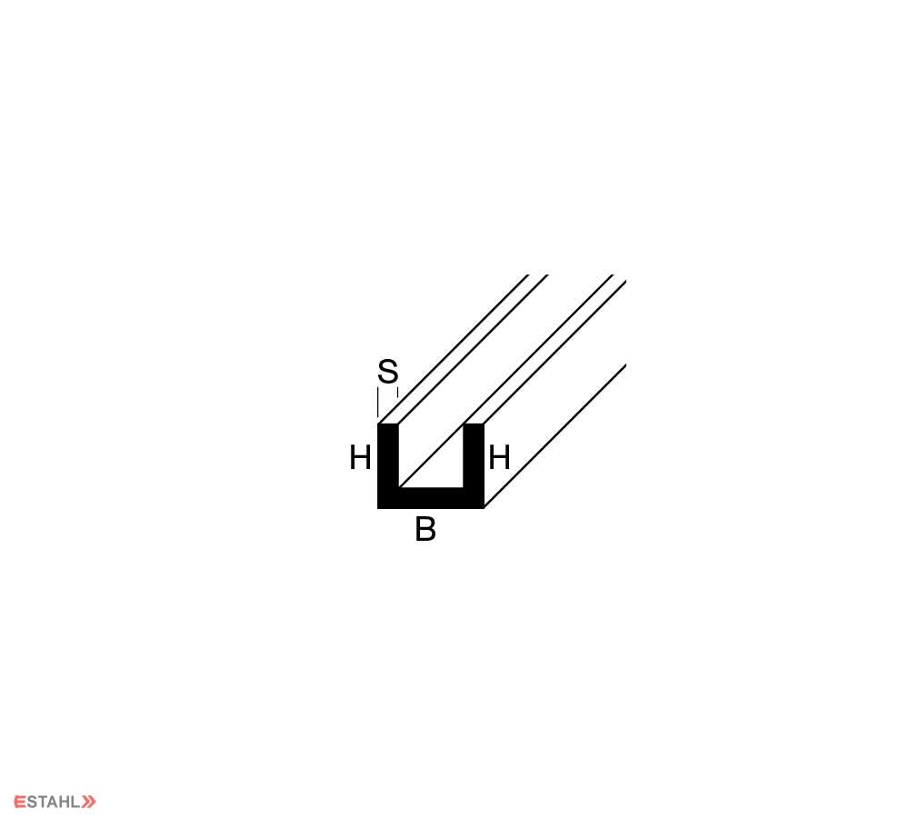Ordentlich Alu U Profil 15 x 30 x 15 x 3 mm SQ66