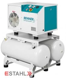 Schraubenkompressor RSD-B 7,5 mit 2 x 90 Liter Druckluftbehälter