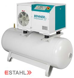 Schraubenkompressor RSD-B 7,5 mit 250 Liter Druckluftbehälter