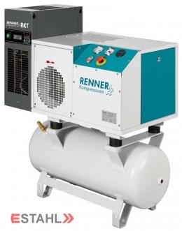 Schraubenkompressor RSDK-B 3,0 mit 90 Liter Druckluftbehälter & Kältetrockner