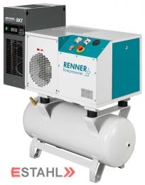 Schraubenkompressor RSDK-B 5,5 mit 90 Liter Druckluftbehälter & Kältetrockner