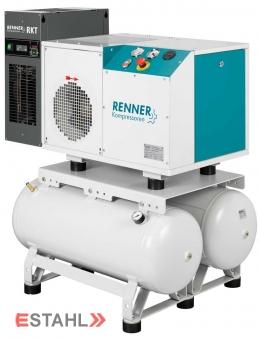 Schraubenkompressor RSDK-B 7,5 mit 2 x 90 Liter Druckluftbehälter & Kältetrockner