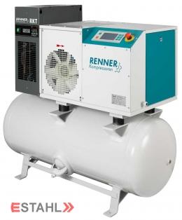 Schraubenkompressor RSDK-B 5,5 mit 250 Liter Druckluftbehälter & Kältetrockner