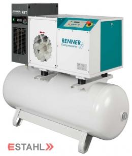 Schraubenkompressor RSDK-B-ECN 5,5 mit 270 Liter Druckluftbehälter und Kältetrockner