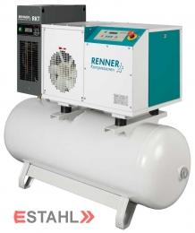 Schraubenkompressor RSDK-B-ECN 7,5 mit 270 Liter Druckluftbehälter und Kältetrockner