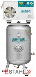 Schraubenkompressor RSD- B 7,5 ST auf verzinktem, stehendem Druckluftbehälter
