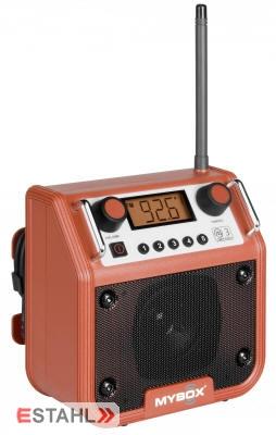 Mybox Baustellenradio rot