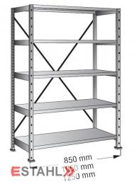Industrieregal 800 mm x 200 mm x 2280 mm Standard verzinkt