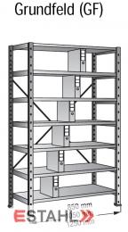 Ordnerregal 1000 mm x 300 mm x 2640 mm Grundfeld verzinkt