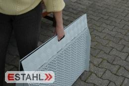 Klappbare Rollstuhlrampe aus Aluminium