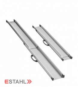 pair of telescopic ramps made of aluminium