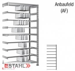 Pendelregistratur Doppelregal 800mm x 700mm x 2640mm verzinkt