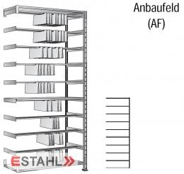 Pendelregistraturregal 1000 mm x 400 mm x 3000 mm verzinkt