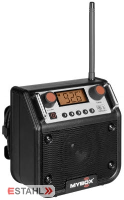 Mybox Baustellenradio schwarz