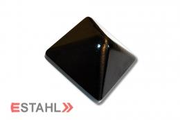 Pfostenkappe aus Aluminium 94 x 94 mm schwarz
