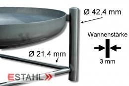 Edelstahl Feuerstelle mit 50 cm Durchmesser