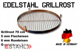 Edelstahl Grillrost in 70 cm Durchmesser