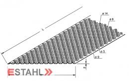 VA-Rutschhemmendes Blech 498 x 2000 x 2 mm