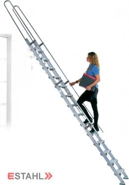 Aluminium Einhängeleiter - Geschosshöhe 3380 mm