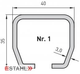 Laufrohr, galvanisch verzinkt, Länge 6000 mm, Größe 1