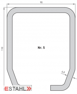 Laufrohr, galvanisch verzinkt, Länge 2000 mm, Größe 5