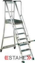 Podesttreppe, 5 Stufen + Plattform