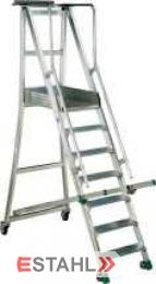 Podesttreppe, 10 Stufen + Plattform