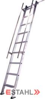 Regaleinhängeleiter, 18 Stufen