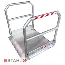 Rollstuhlrampe mit beidseitigem Geländer, Länge: 1390 mm