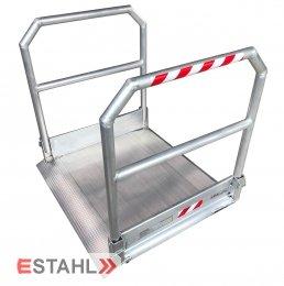 Rollstuhlrampe mit beidseitigem Geländer, Länge: 2390 mm