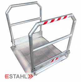 Rollstuhlrampe mit beidseitigem Geländer, Länge: 2990 mm
