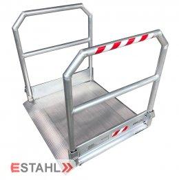 Rollstuhlrampe mit beidseitigem Geländer, Länge: 5790 mm