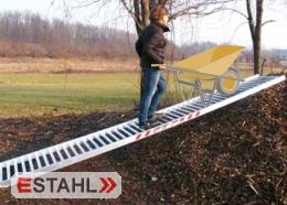 Aluminium Mistrampe für Schubkarren, Länge 3000 mm