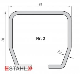 Laufrohr, galvanisch verzinkt, Länge 2000 mm, Größe 3
